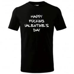 Vtipné valentýnské pánské tričko s motivem Happy Fucking Valentine´s Day