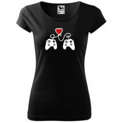 Gamepad Love - zamilované dámské nejen valentýnské tričko