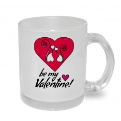 Hrnek s potiskem - Be my Valentine