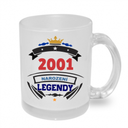 Hrnek s potiskem 2001 narození legendy