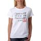 Dámské narozeninové triko Vypadá na 18 Cítí se na 14 Chová se na 18 To vychází na: 50