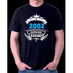 Pánské narozeninové triko 2002 narození legendy.