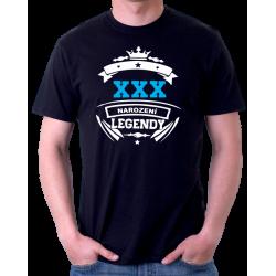 Narozeninové pánské tričko - volitelný rok - narození legendy.