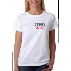 Dámské tričko s potiskem malého loga automobilu značky Audi