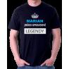 Pánské triko MARIAN jméno opravdové legendy, dárek pro Mariana.