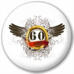 Kulatá placka s potiskem 60 let