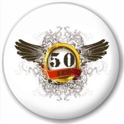 Kulatá placka s potiskem 50 let