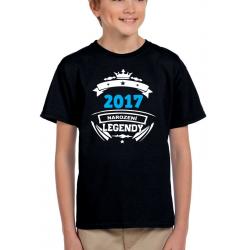 Dětské tričko 2017 narození legendy. Dárek pro chlapce k 4 narozeninám
