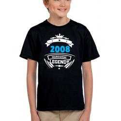 Dětské narozeninové tričko 2008 narození legendy.