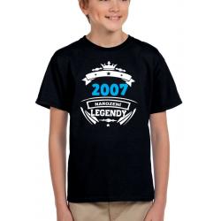 Dětské narozeninové tričko 2007 narození legendy.