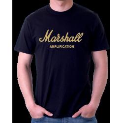 Pánské triko Marshall aplication se zlatým potikem. Ideální pro muže ze zálibou o muziku