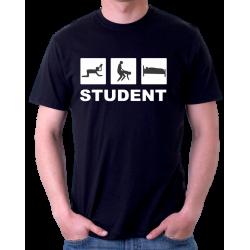 Tričko pro Studenta, vtipný studentův trojboj.
