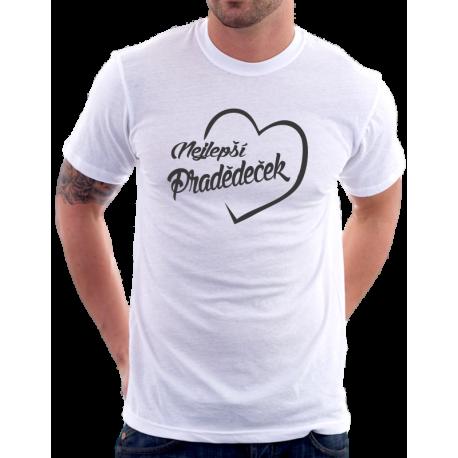 Pánské tričko nejlepší Pradědeček v srdci