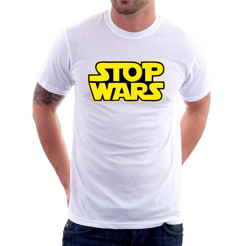 Stop wars - Pánské Tričko s vtipným potiskem Stop wars 377816893c