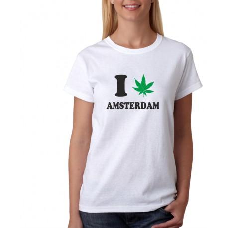 I canabis Amsterdam - Dámské Tričko s vtipným potiskem