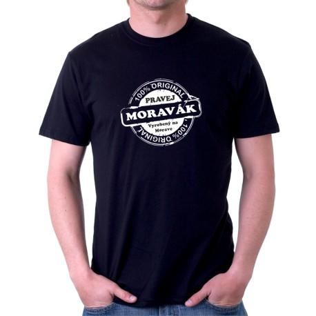 Pravej Moravák - Pánské Tričko s vtipným potiskem