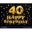 k 40 narozeninám