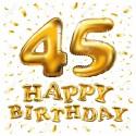 k 45 narozeninám