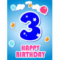 k 3 narozeninám